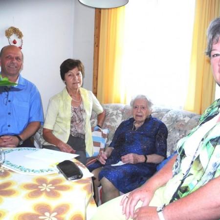 Bertha Brüstle wird 105 Jahre alt!